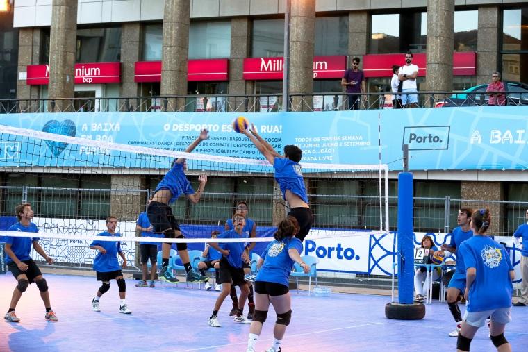 Praça D. João I – Verão com muito desporto
