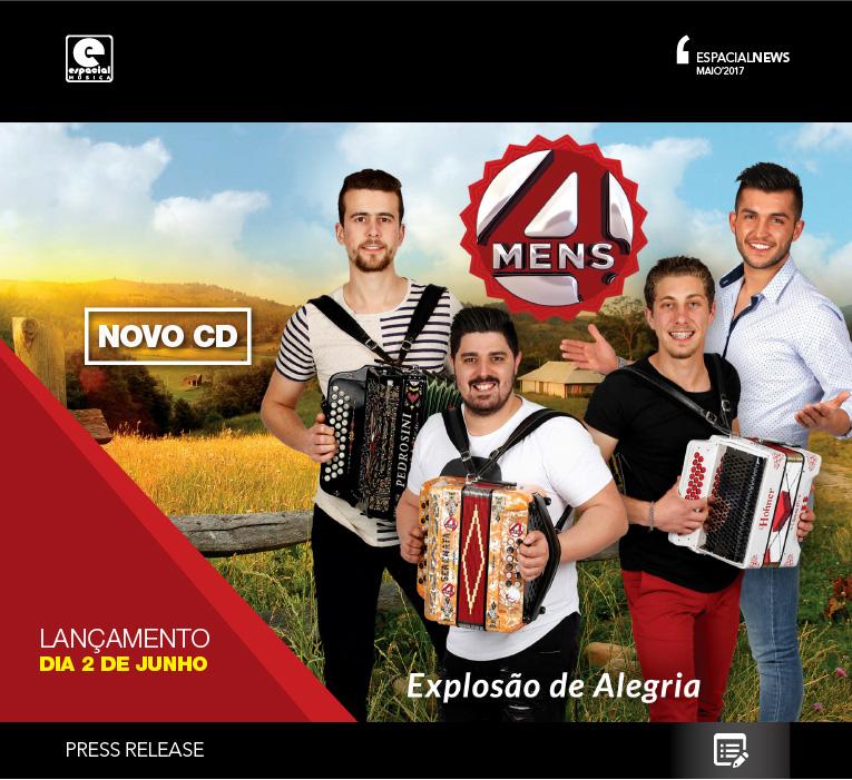 NOVO CD – 4MENS – EXPLOSÃO DE ALEGRIA