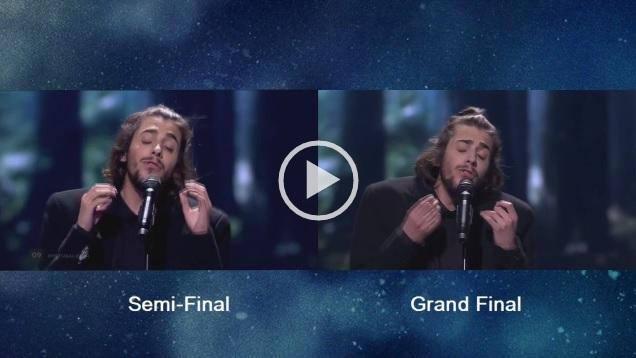 A comparação entre a meia final e a Grande Final de Salvador Sobral