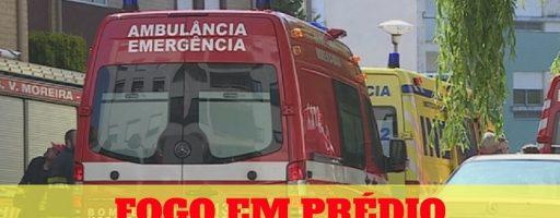 FOGO obriga a evacuação de prédio na MAIA