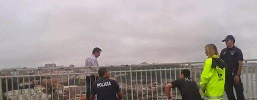 POLICIAS ATROPELADOS na Ponte do Infante