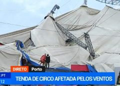 "▶️Vídeo: Tenda de Circo ""arrancada"" pelo mau tempo"